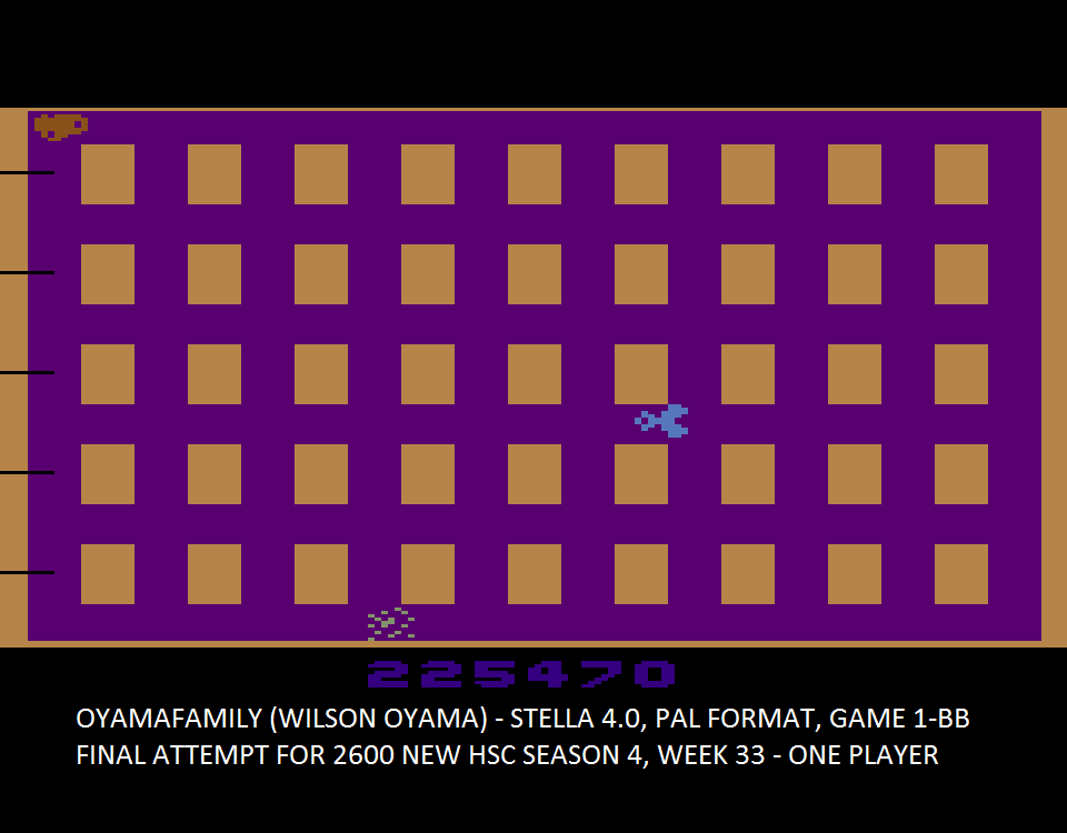 oyamafamily: Universal Chaos (Atari 2600 Emulated Novice/B Mode) 225,470 points on 2015-10-05 17:04:55