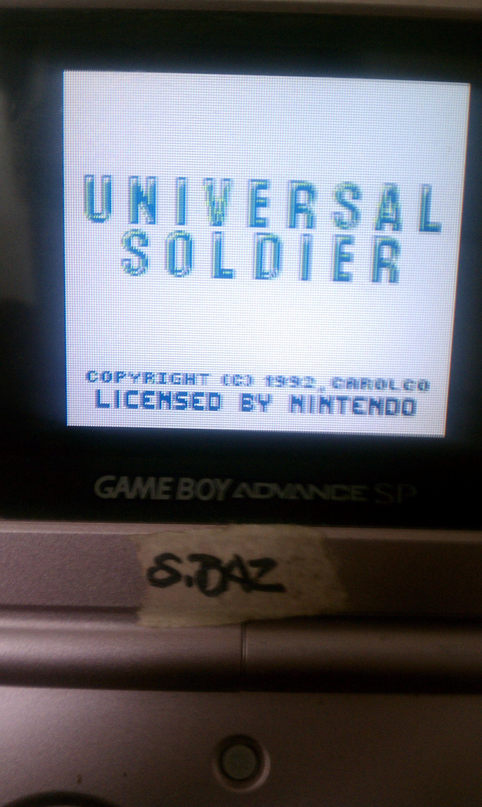 S.BAZ: Universal Soldier [Easy: 5 Lives] (Game Boy) 58,400 points on 2020-03-18 23:41:51