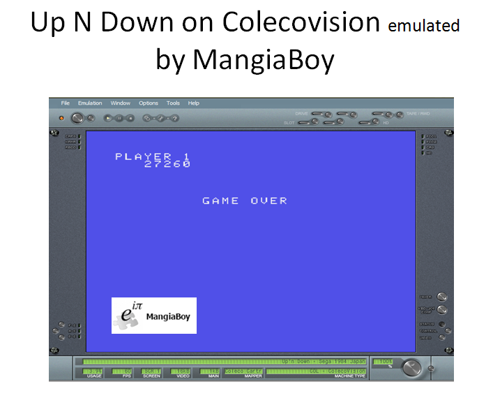 MangiaBoy: Up N Down (Colecovision Emulated) 27,260 points on 2016-04-17 12:10:25