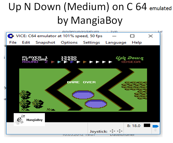 MangiaBoy: Up N Down [Medium] (Commodore 64 Emulated) 13,430 points on 2016-12-12 13:02:01