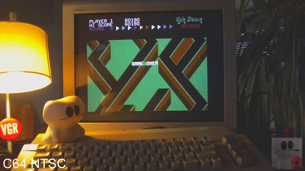GTibel: Up N Down [Medium] (Commodore 64) 60,190 points on 2020-02-10 09:42:01