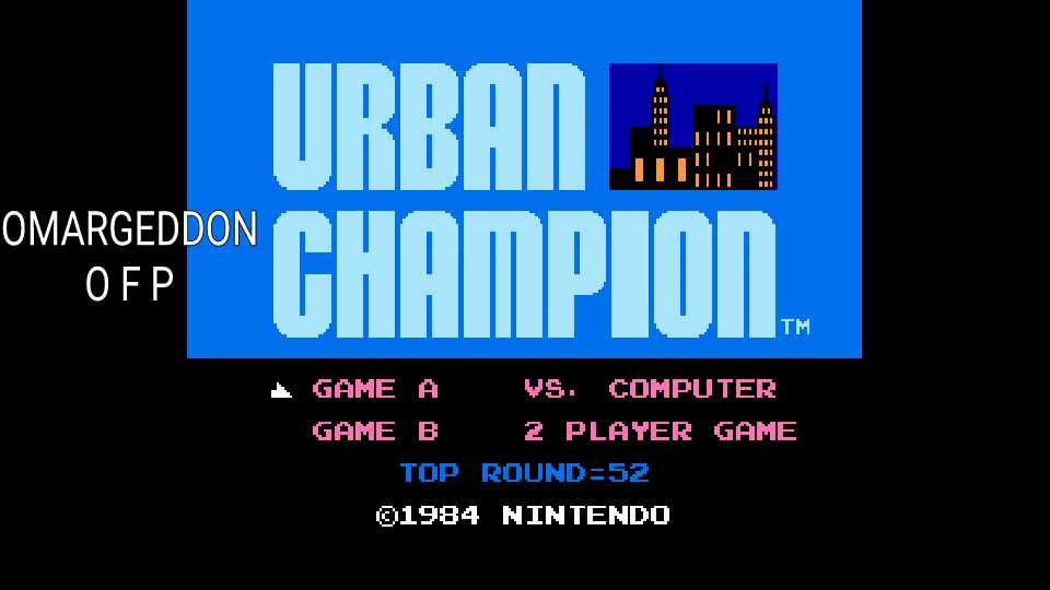 omargeddon: Urban Champion: Game A (NES/Famicom Emulated) 52 points on 2016-12-13 23:32:21