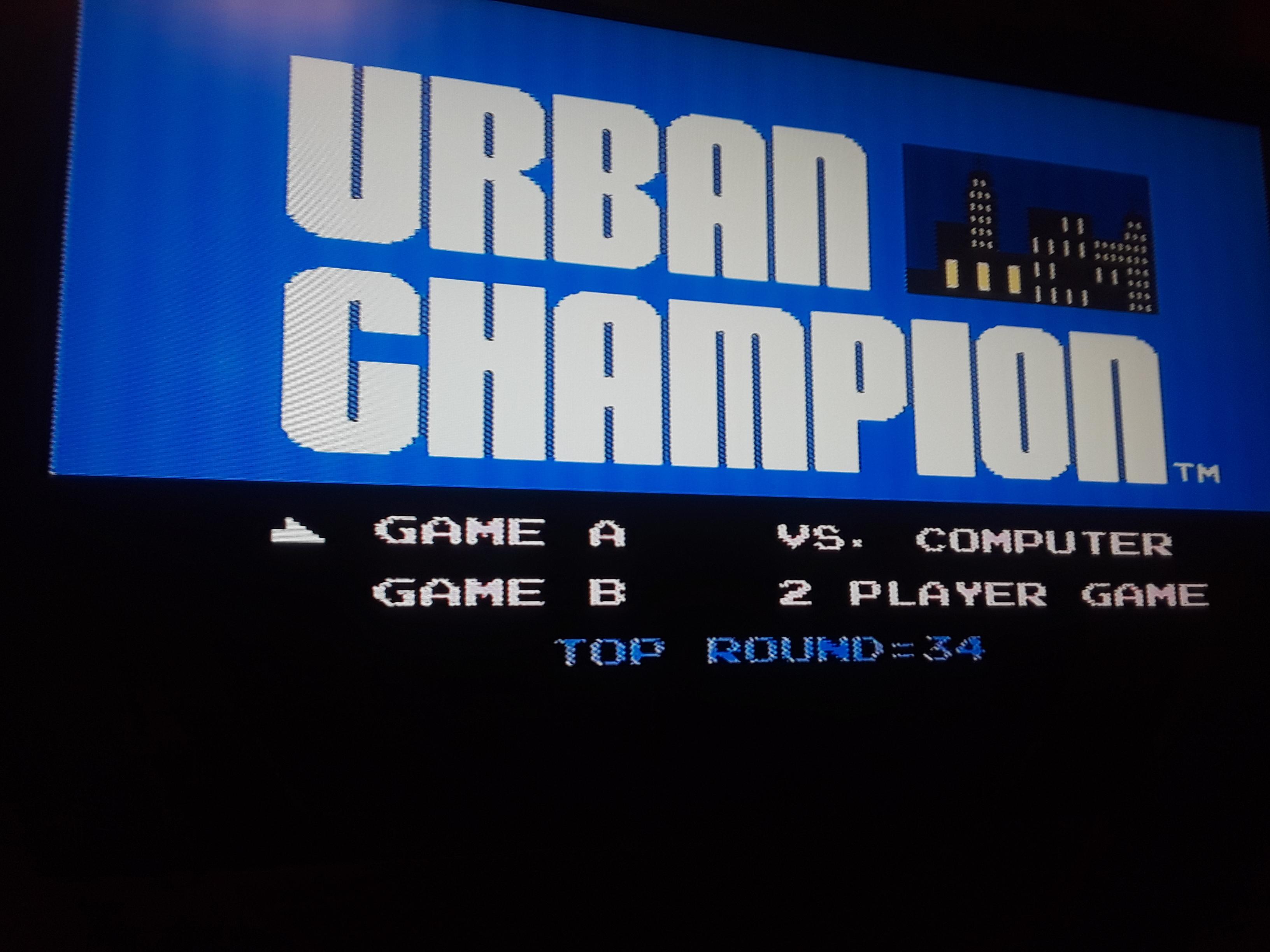 Urban Champion: Game A 34 points