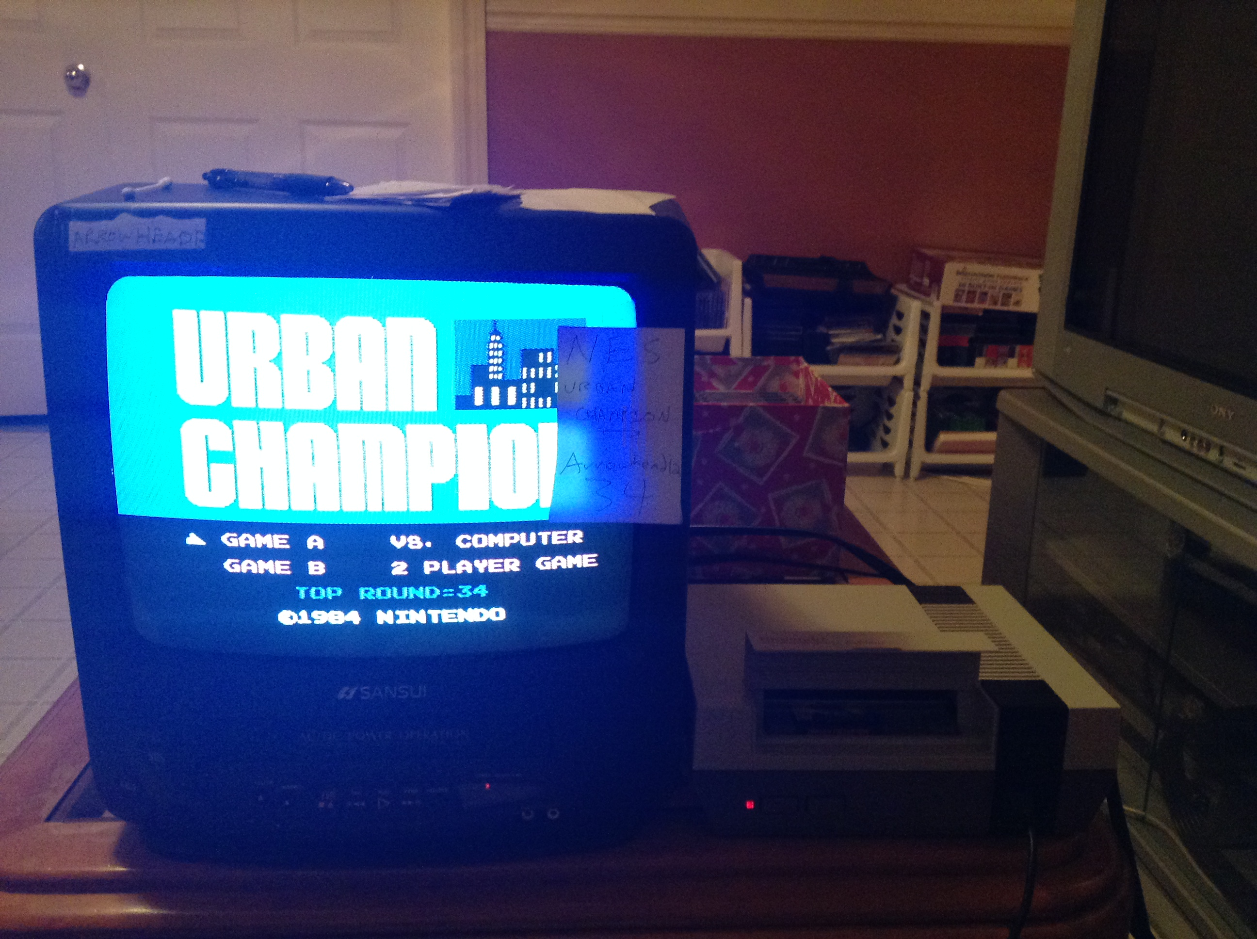 Arrowhead12: Urban Champion: Game A (NES/Famicom) 34 points on 2018-12-16 01:18:18