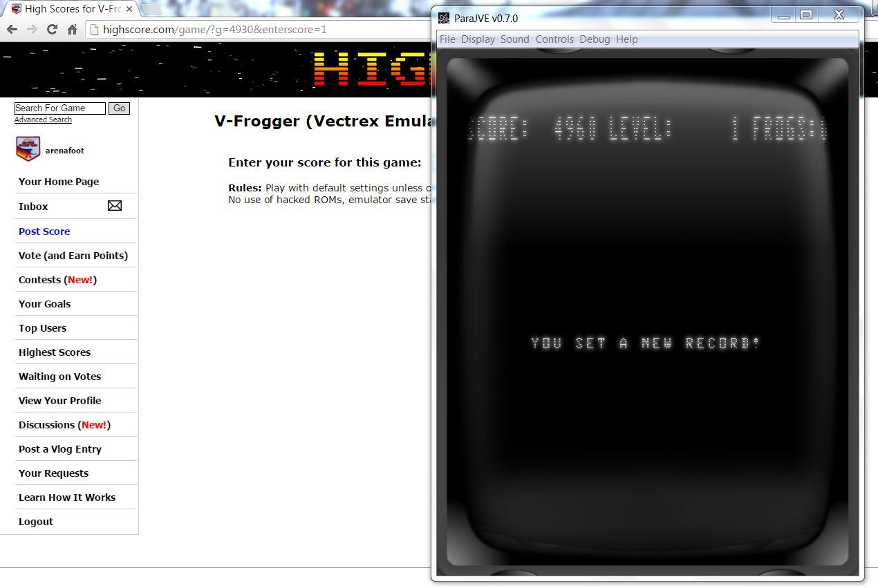V-Frogger 4,960 points