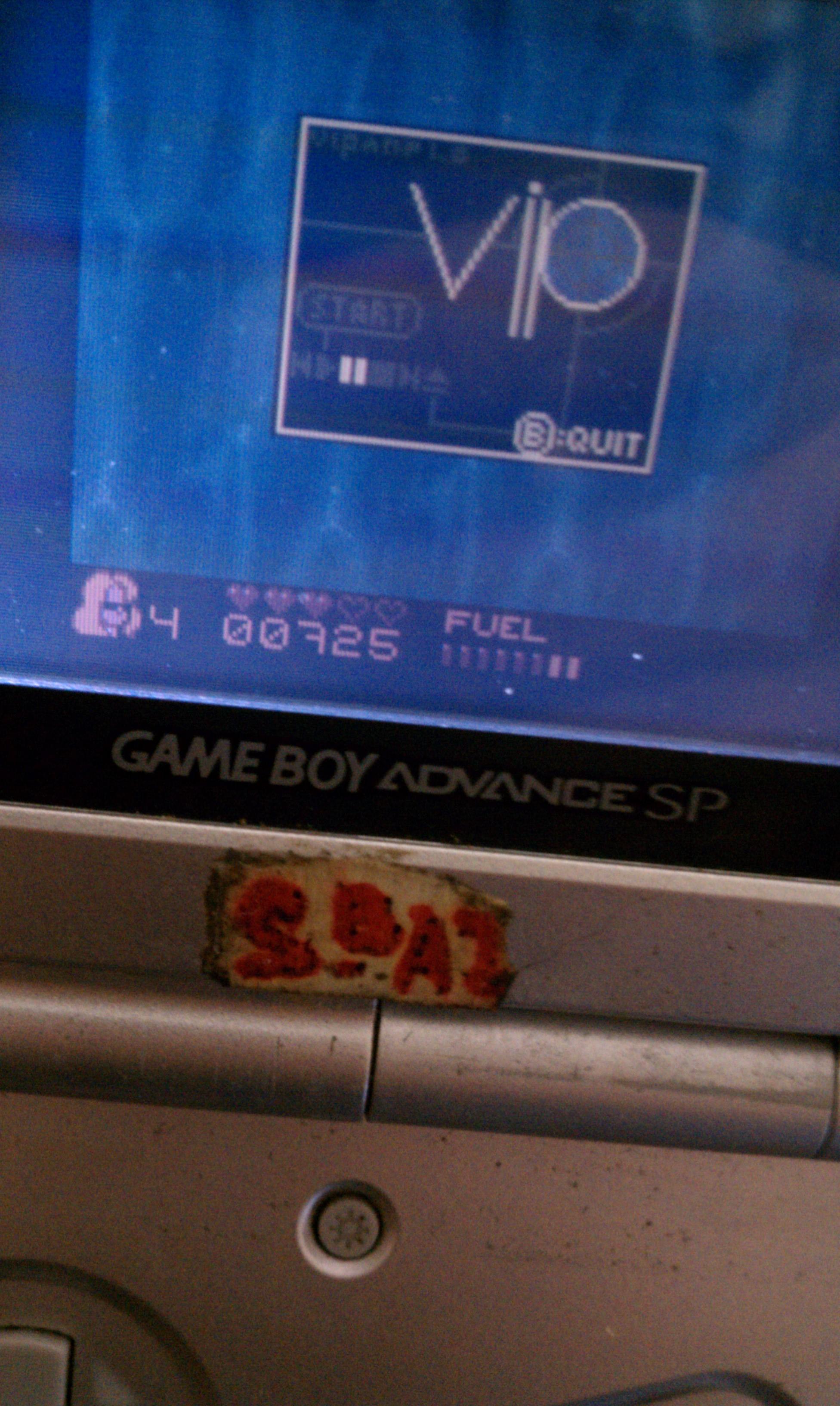 S.BAZ: V.I.P. (Game Boy Color) 725 points on 2020-07-05 19:17:44