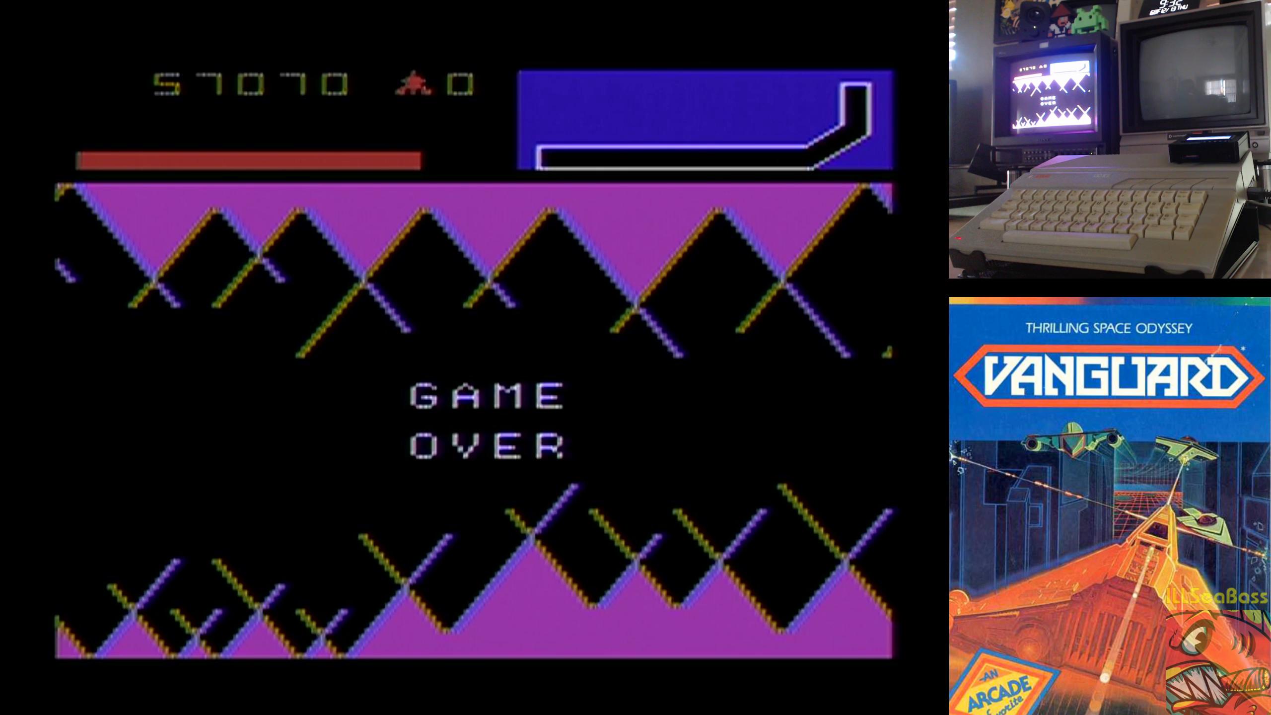 ILLSeaBass: Vanguard (Atari 400/800/XL/XE) 57,070 points on 2018-12-17 01:37:07