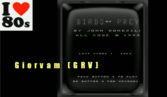 Giorvam: Vecmania: Birds of Prey (Vectrex Emulated) 1,860 points on 2018-01-27 05:06:14