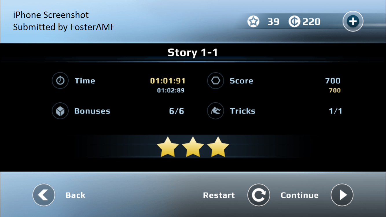 FosterAMF: Vector: Classic Mode: Time Trial [Downtown: 1-1] (iOS) 0:01:01.91 points on 2015-07-25 15:44:41