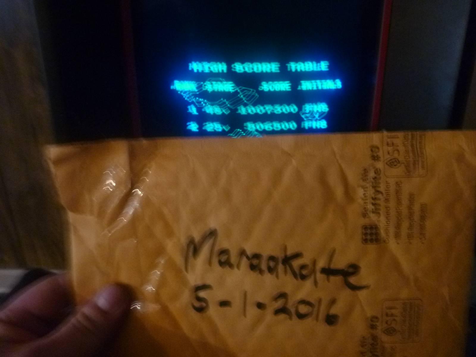Maraakate: Vector Pilot: Easy (Vectrex) 1,007,300 points on 2016-05-01 08:10:14