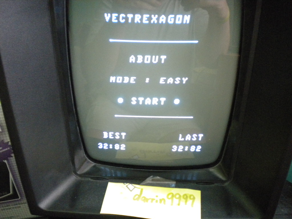 Vectrexagon time of 0:00:32.8