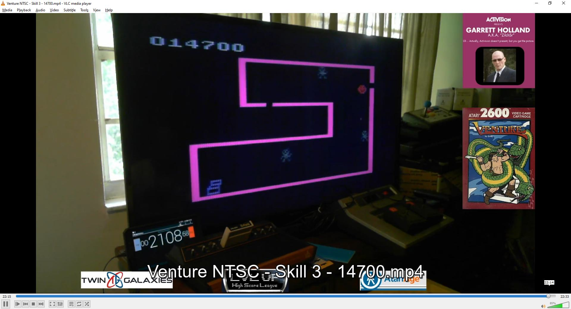 ZilchSr: Venture (Atari 2600 Expert/A) 14,700 points on 2021-02-13 16:10:26