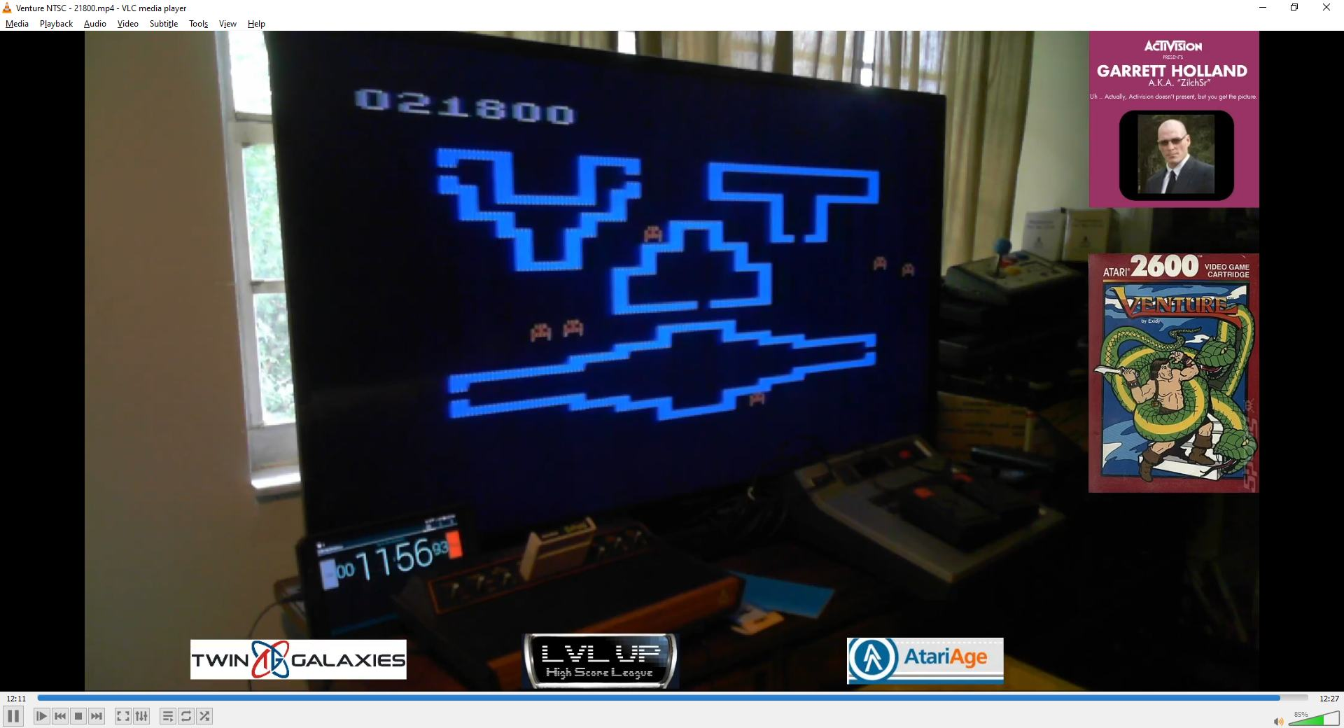 ZilchSr: Venture (Atari 2600 Novice/B) 21,800 points on 2021-02-13 16:11:28
