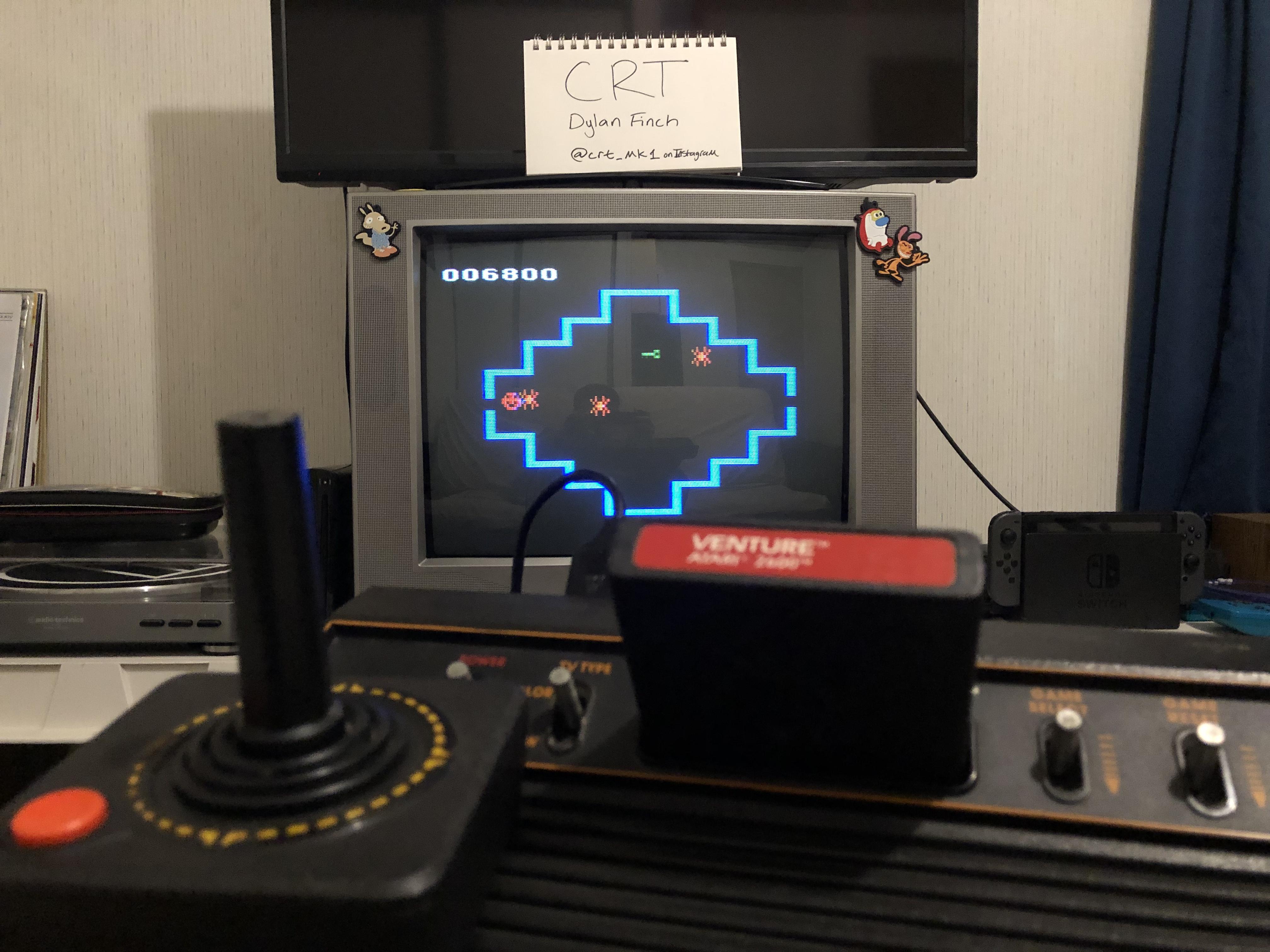 CRT: Venture (Atari 2600 Novice/B) 6,800 points on 2019-01-03 19:50:18