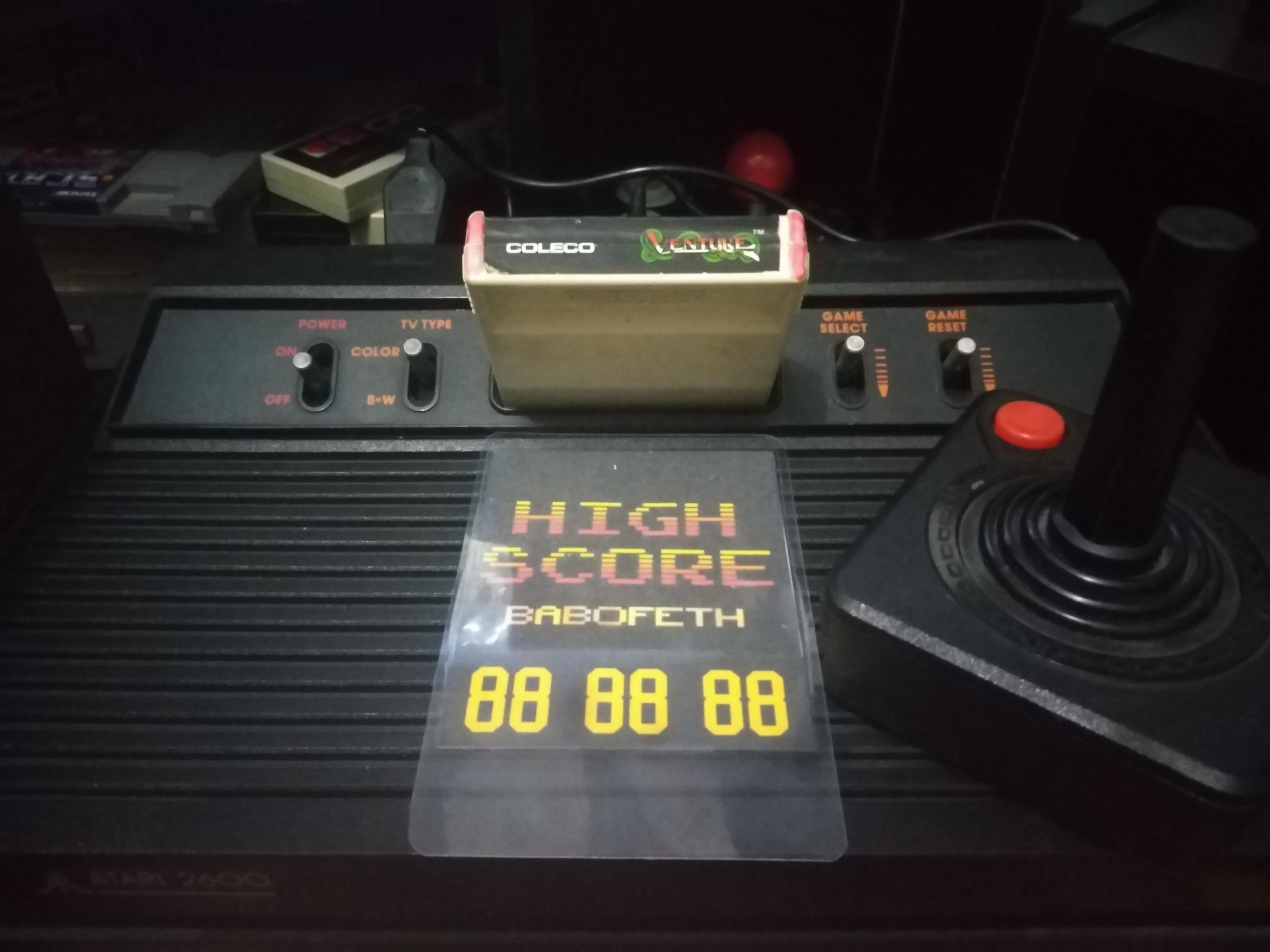 BabofetH: Venture (Atari 2600 Novice/B) 14,400 points on 2020-08-19 02:20:08