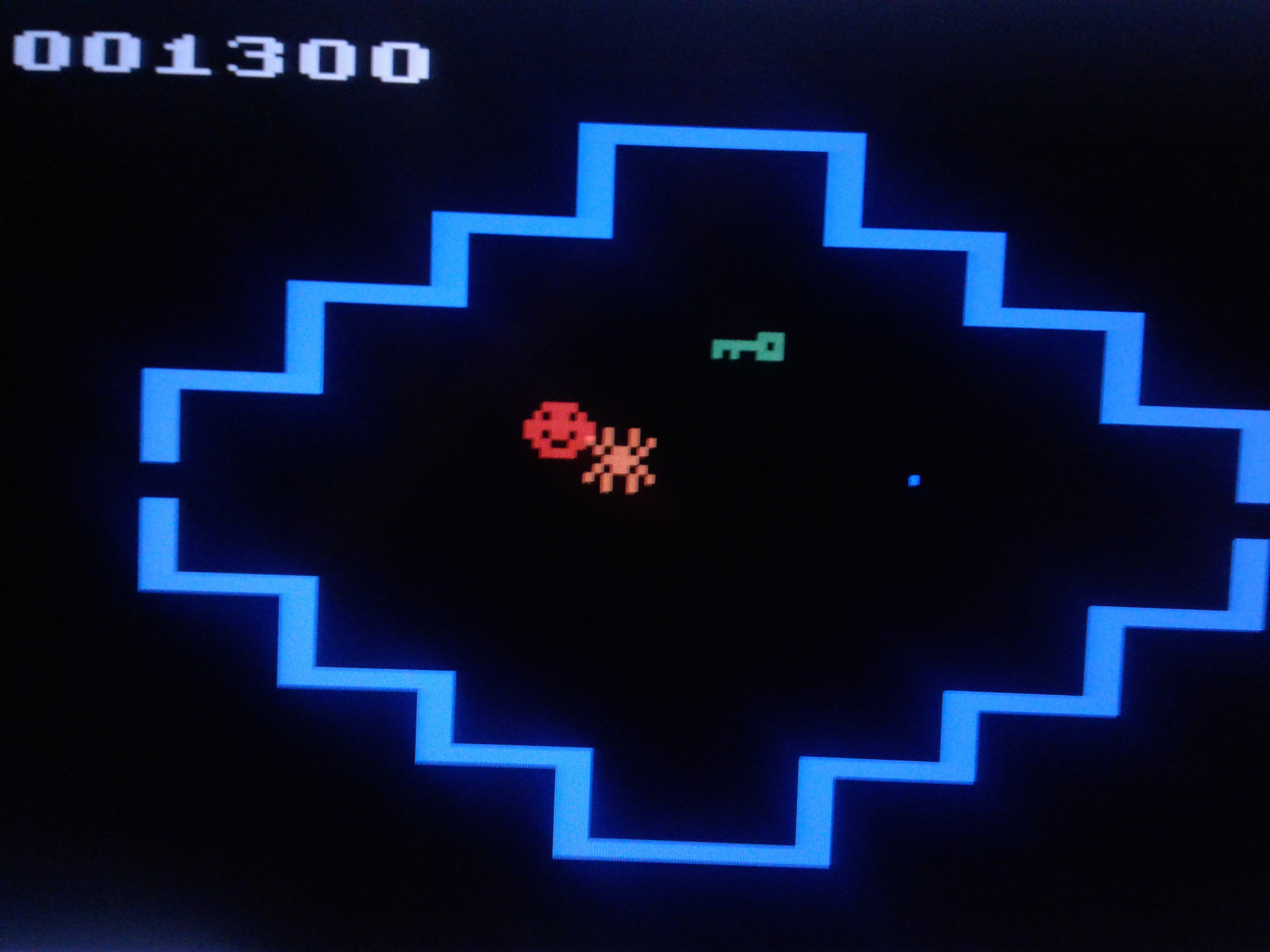 Mark: Venture (Atari 2600 Emulated Novice/B Mode) 1,300 points on 2019-02-14 02:09:07
