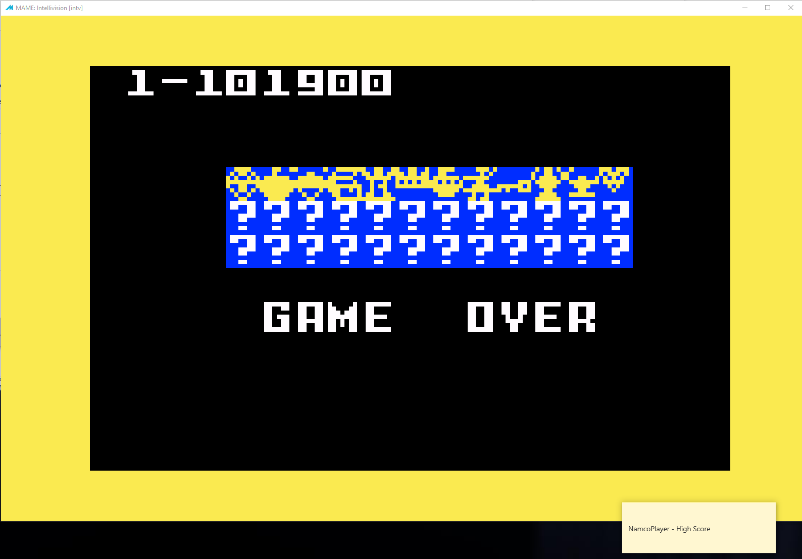 NamcoPlayer: Venture [Skill 4] (Intellivision Emulated) 101,900 points on 2020-11-02 21:32:12