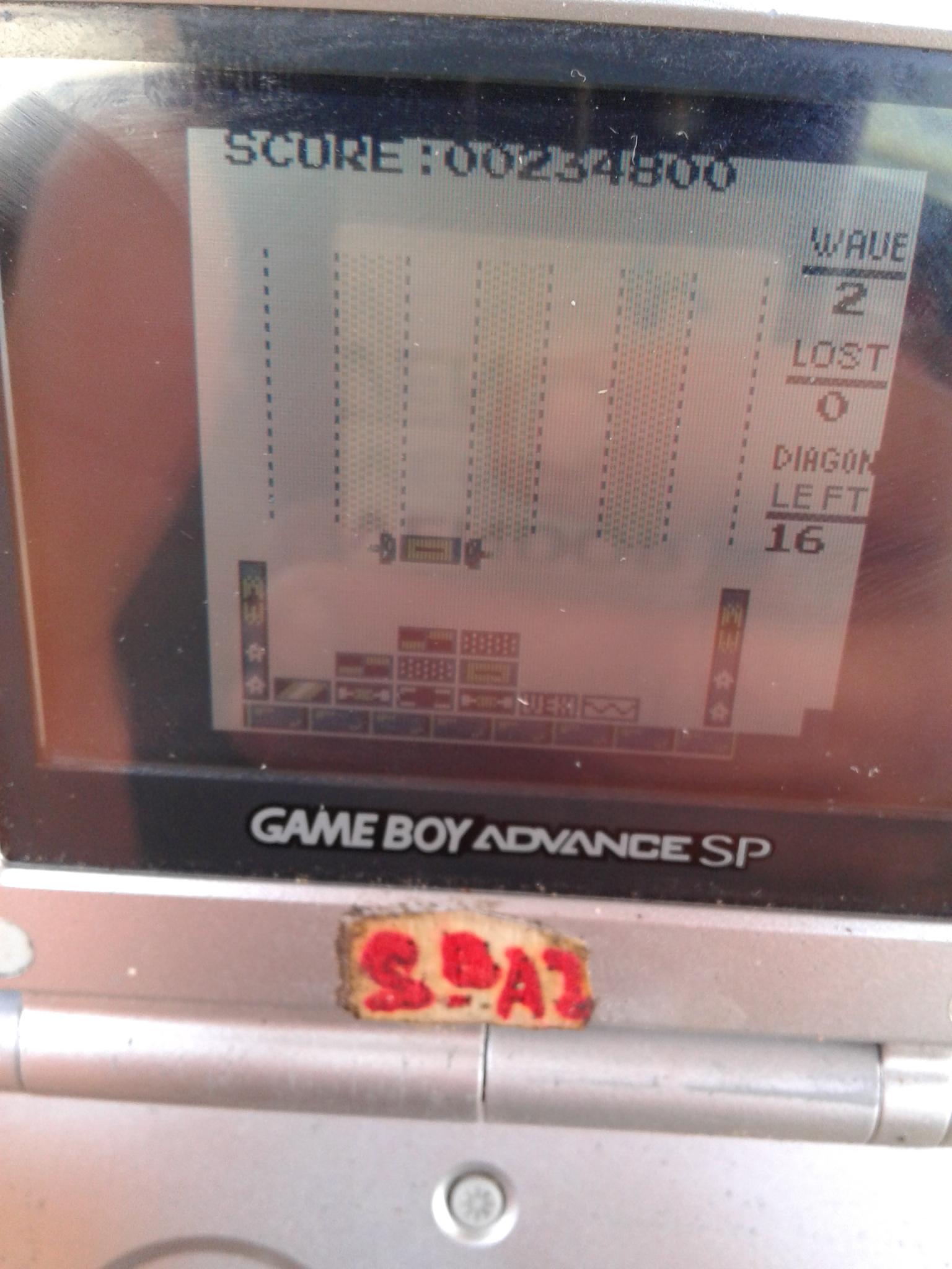 S.BAZ: Vex Block (Game Boy) 234,800 points on 2020-03-29 05:37:43