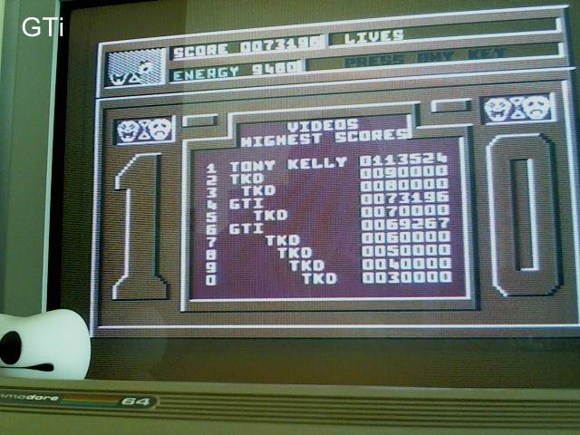 GTibel: Video Meanies (Commodore 64) 73,196 points on 2017-05-03 11:58:50