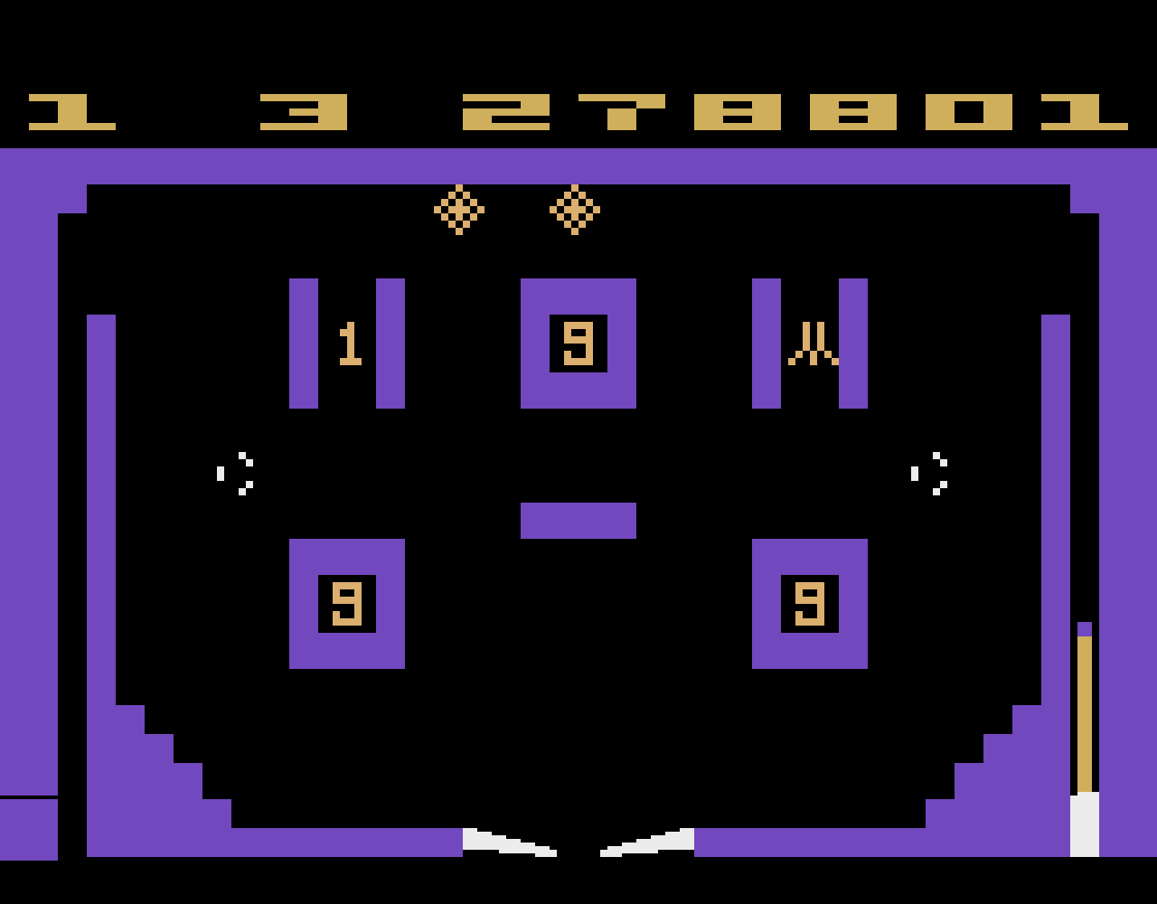 TheTrickster: Video Pinball (Atari 2600 Emulated Novice/B Mode) 1,278,801 points on 2016-08-22 06:19:38