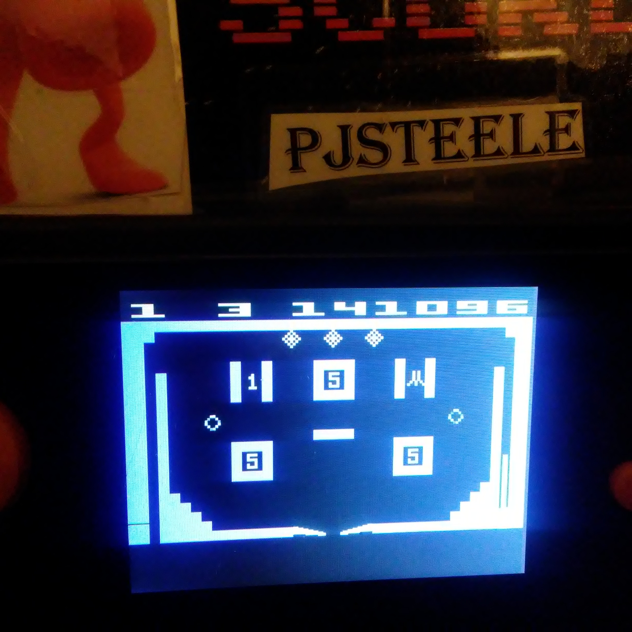 Pjsteele: Video Pinball (Atari 2600 Emulated Novice/B Mode) 141,096 points on 2017-12-26 18:33:51