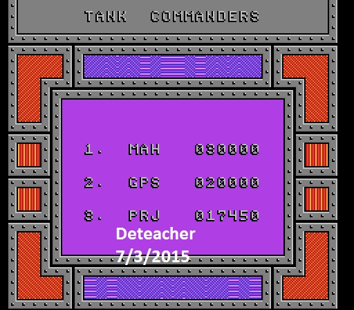 Deteacher: Vindicators (NES/Famicom Emulated) 17,450 points on 2015-07-03 20:38:41