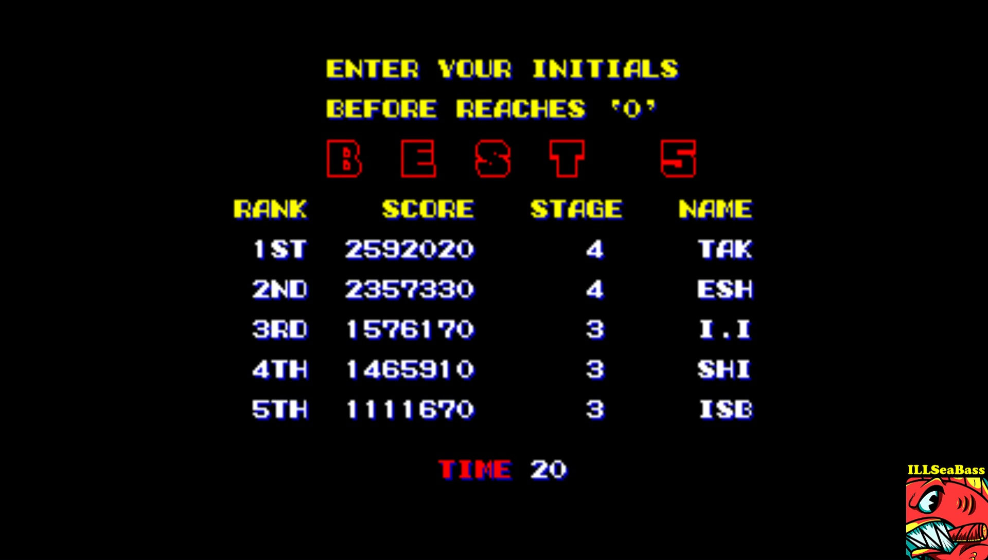 ILLSeaBass: Violence Fight [viofight] (Arcade Emulated / M.A.M.E.) 1,111,670 points on 2017-07-19 12:27:40
