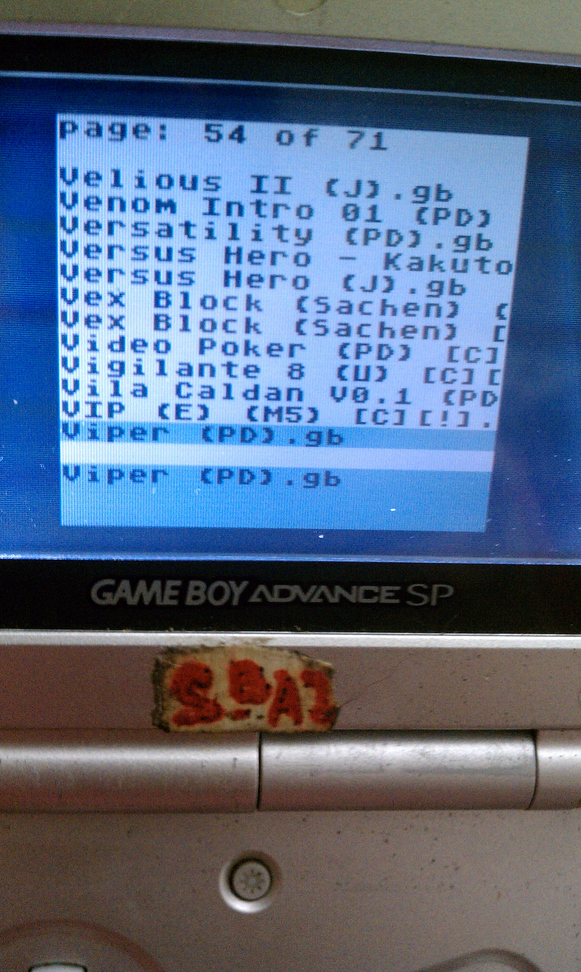 S.BAZ: Viper (Game Boy) 26 points on 2020-03-29 05:27:16