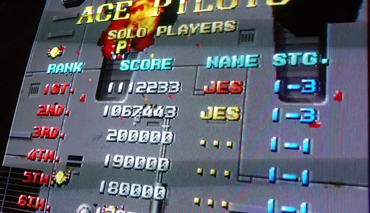 JES: Viper Phase 1 New Version [viprp1] (Arcade Emulated / M.A.M.E.) 1,112,233 points on 2017-05-21 13:15:19
