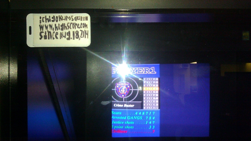 ichigokurosaki1991: Virtua Cop 2 (Arcade) 448,717 points on 2016-04-06 01:36:10