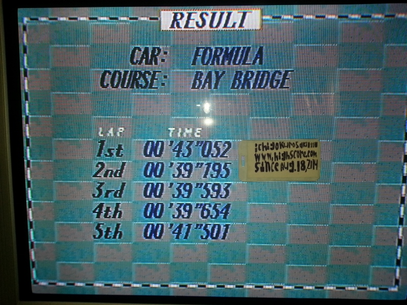 Virtua Racing Deluxe [Sega 32X]: Time Attack: Bay Bridge [10 Laps] time of 0:06:41.153