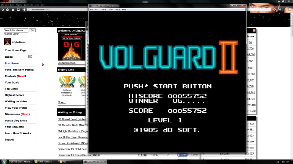 OriginalGamer: Volguard II (NES/Famicom Emulated) 55,752 points on 2016-06-30 16:52:52