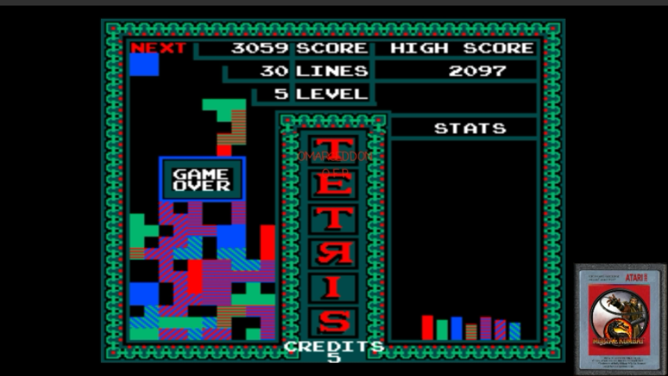 Vs. Tetris 3,059 points