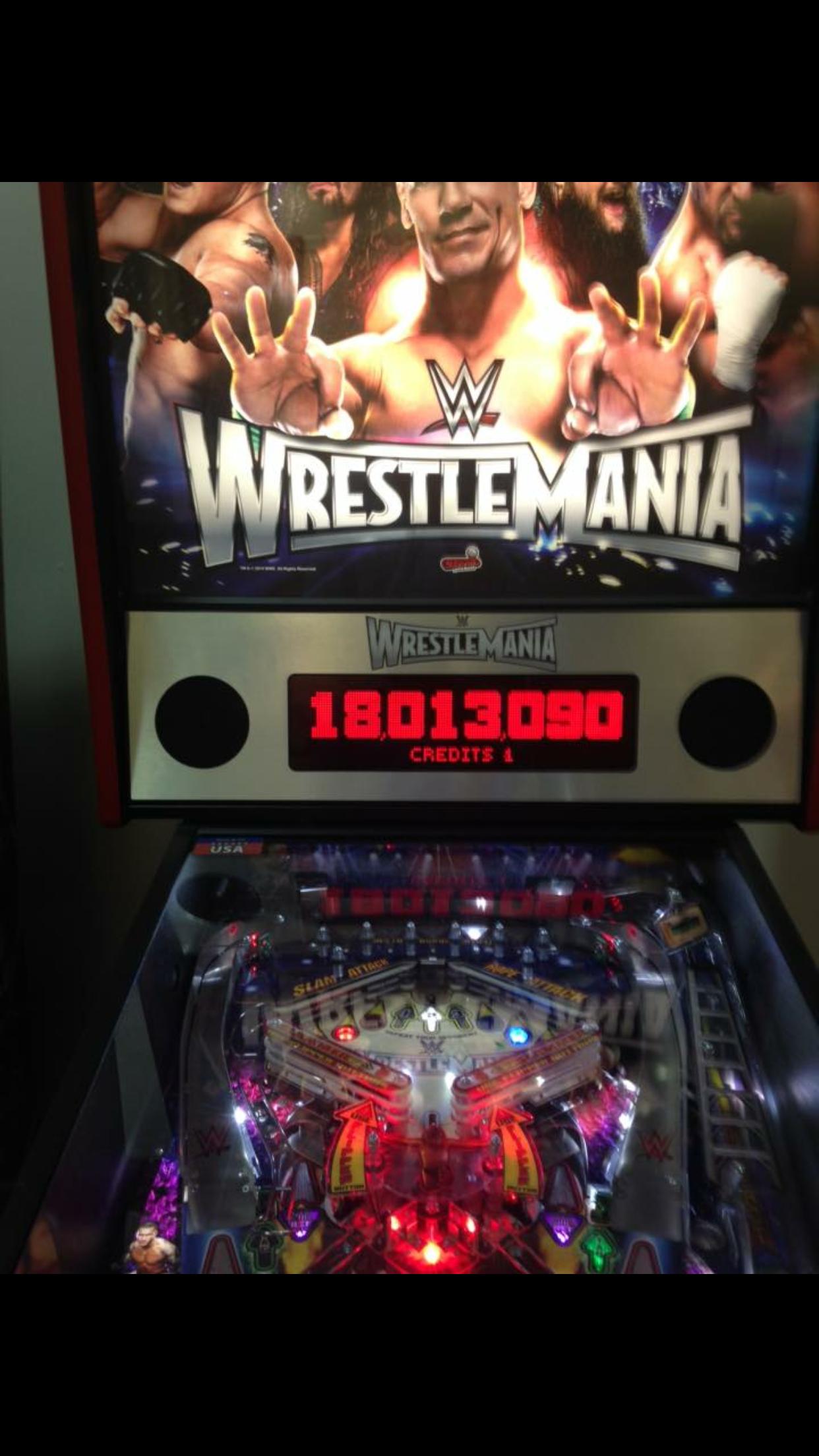 WWE Wrestlemania 18,013,090 points