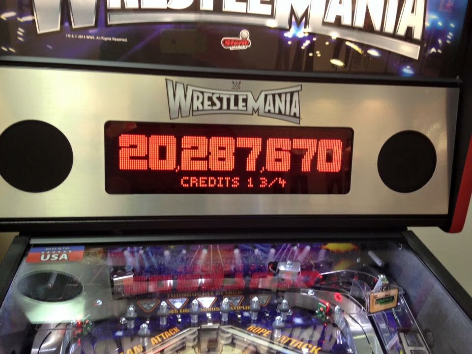 Samhain2099: WWE Wrestlemania (Pinball: 3 Balls) 20,287,670 points on 2017-02-04 19:49:16