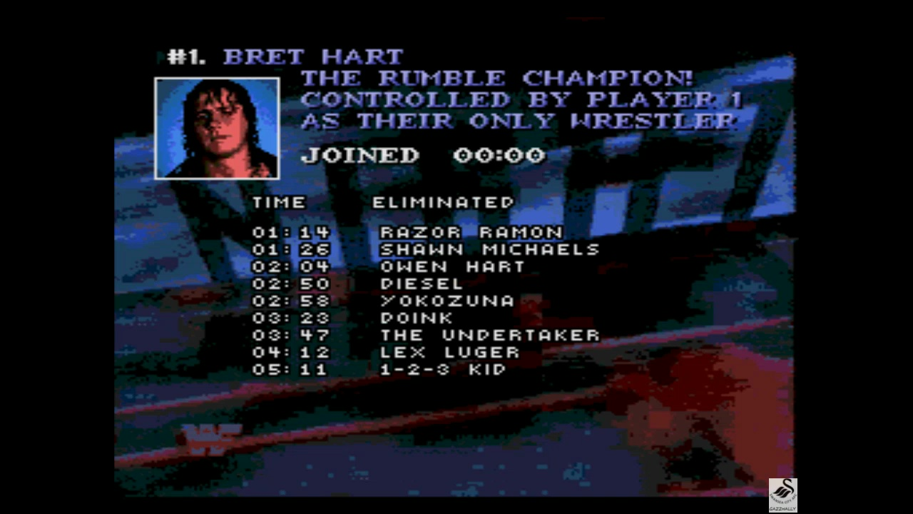 gazzhally: WWF Raw [Royal Rumble] [Most Eliminations] (Sega Genesis / MegaDrive Emulated) 9 points on 2019-05-29 16:04:40