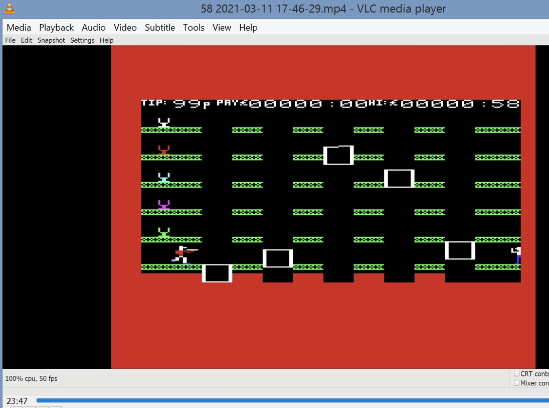 LuigiRuffolo: Wacky Waiters (Commodore VIC-20 Emulated) 58 points on 2021-03-11 11:45:52