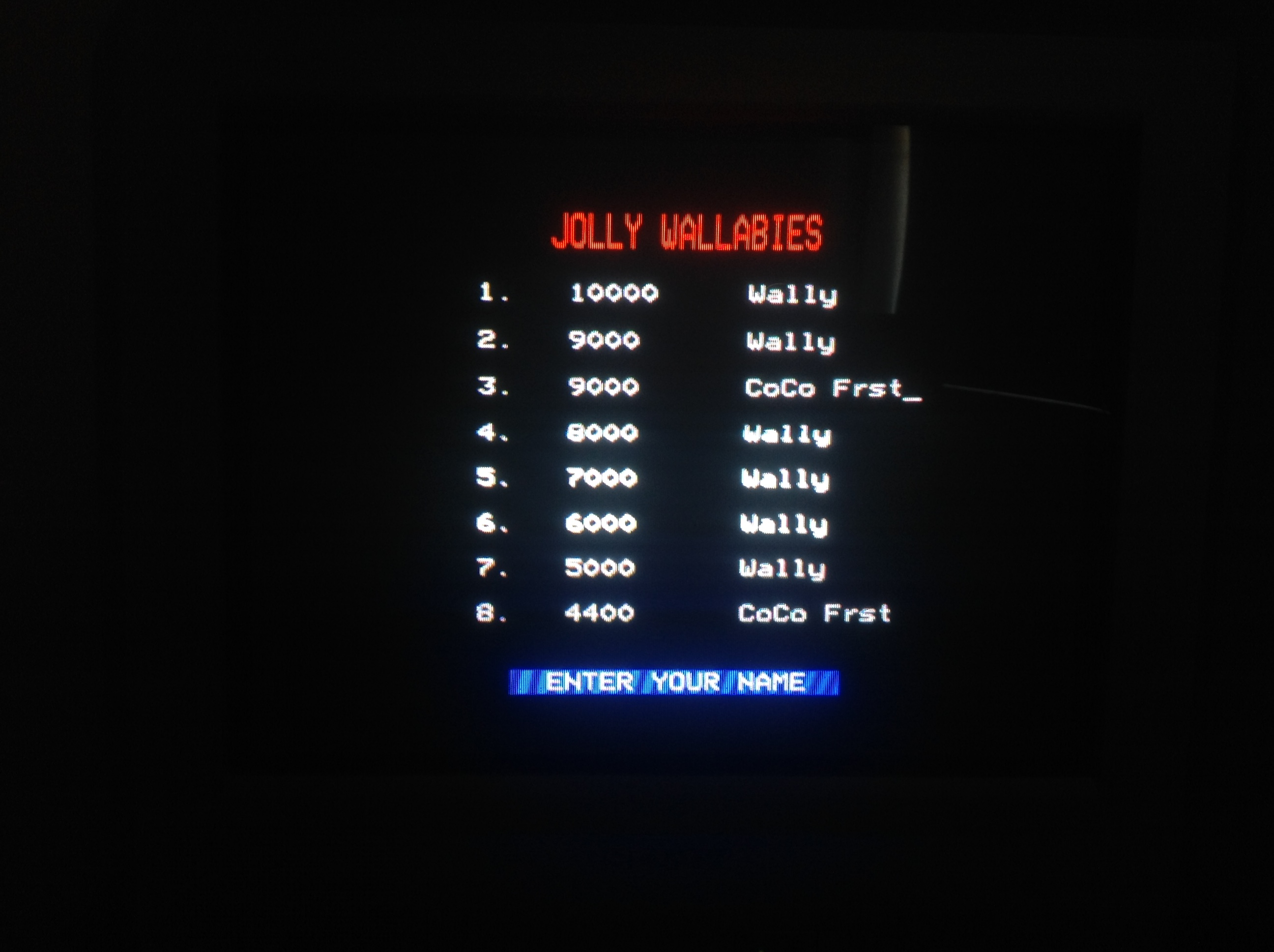 CoCoForest: Wallaby (BBC Micro) 9,000 points on 2018-07-05 04:50:07