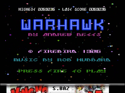 S.BAZ: Warhawk (Atari 400/800/XL/XE Emulated) 69,036 points on 2016-05-22 18:49:40