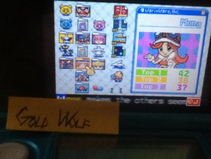 GoldWolf: WarioWare, Inc.: Mega Microgame$!: Mona (GBA Emulated) 42 points on 2016-08-01 16:17:42