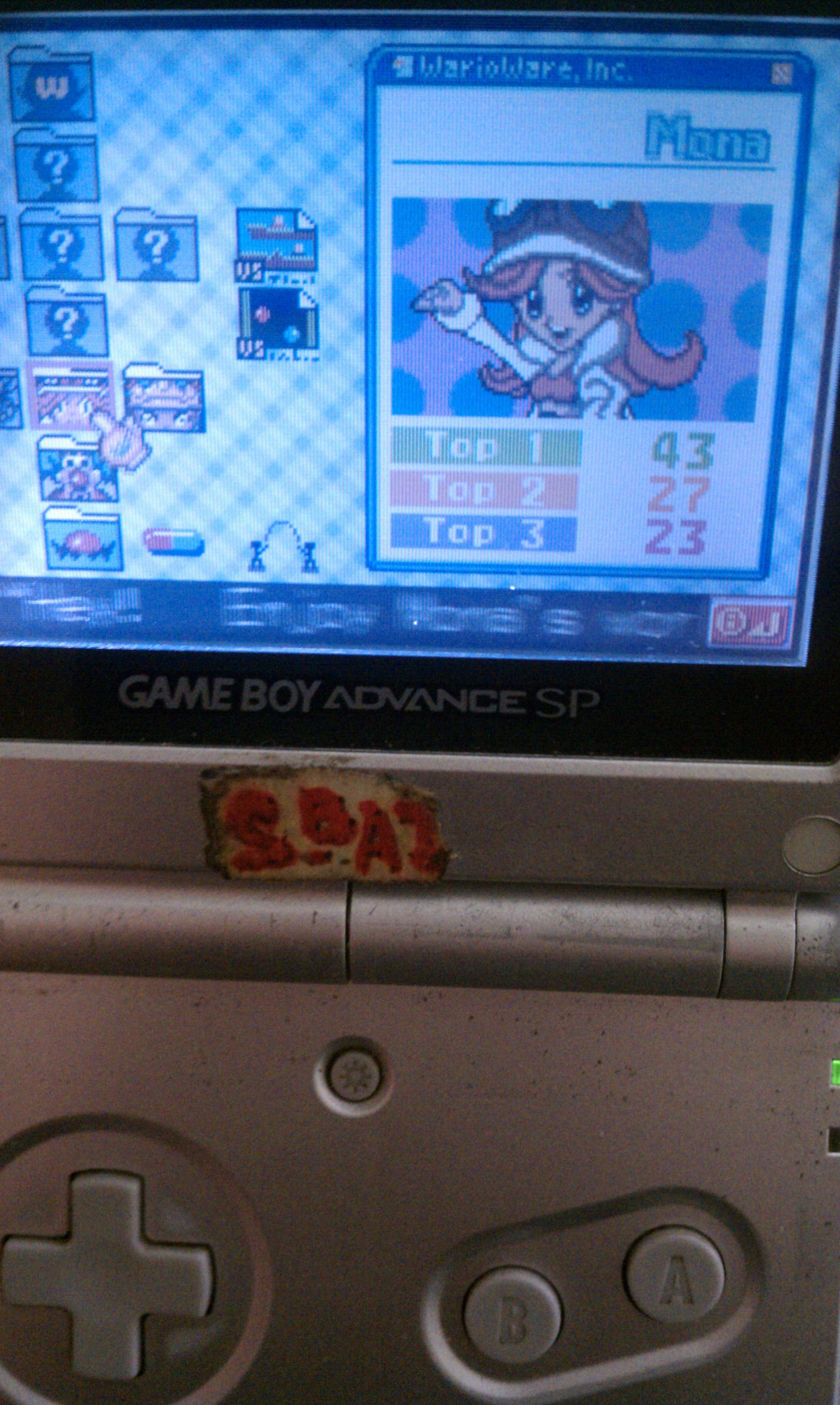 S.BAZ: WarioWare, Inc.: Mega Microgame$!: Mona (GBA) 43 points on 2020-05-23 19:51:48