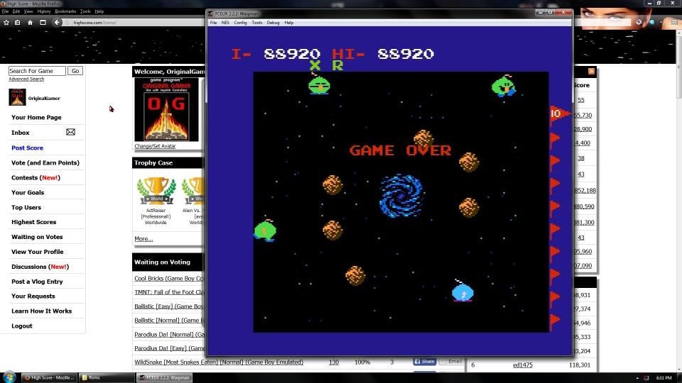 OriginalGamer: Warpman (NES/Famicom Emulated) 88,920 points on 2016-07-15 15:48:35