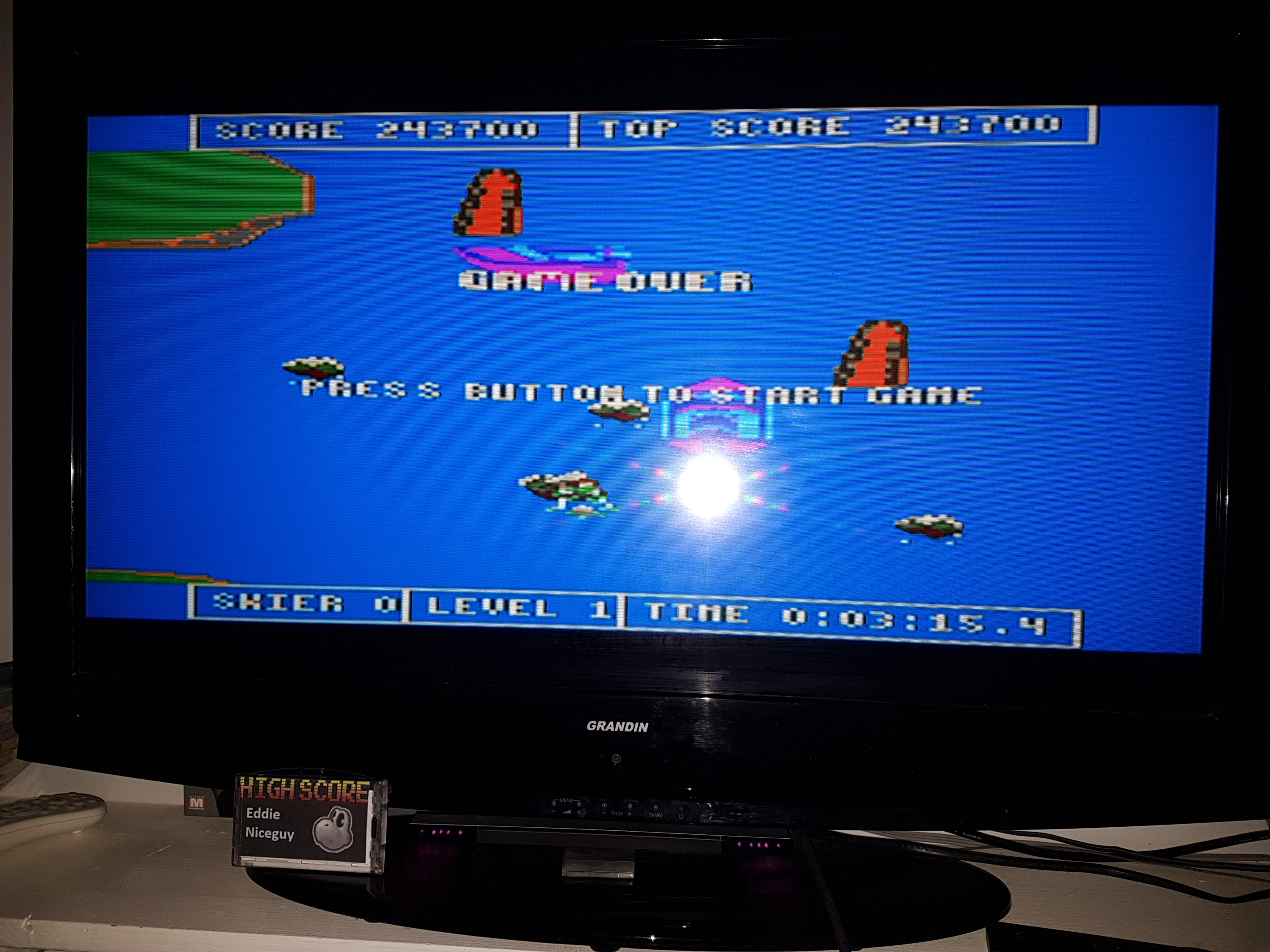 EddieNiceguy: Water Ski (Atari 7800 Emulated) 243,700 points on 2019-03-29 18:30:45