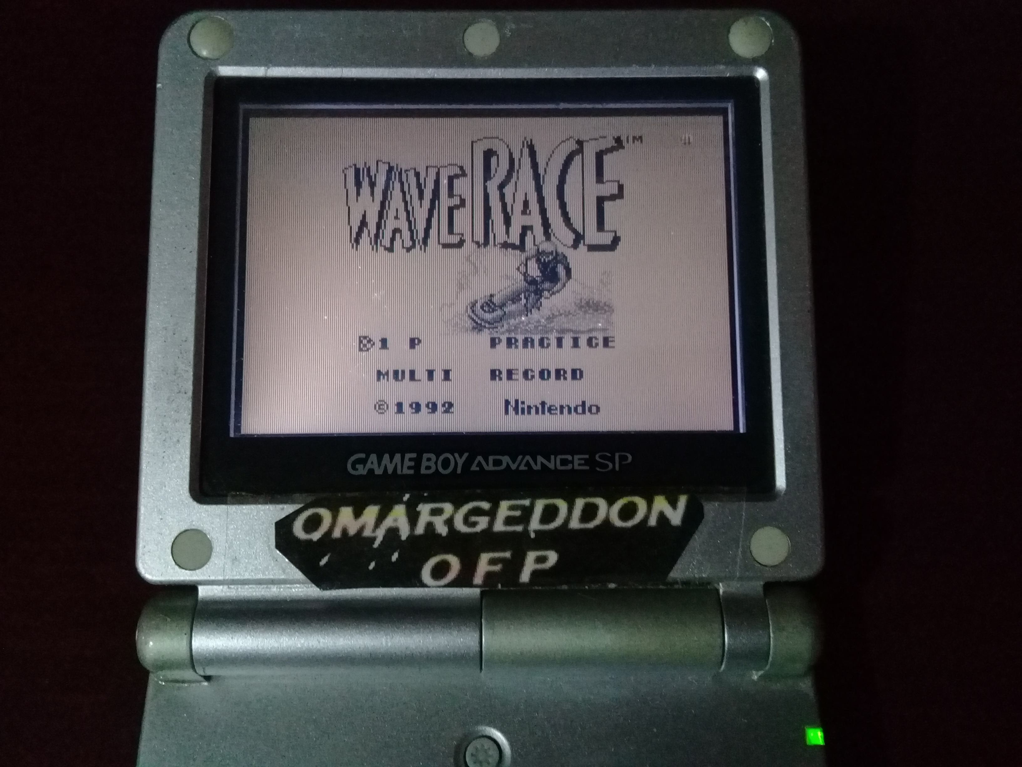 omargeddon: Wave Race: Circuit 1: Bahamas [550cc][Course Record] (Game Boy) 0:00:16.19 points on 2019-04-16 14:07:11