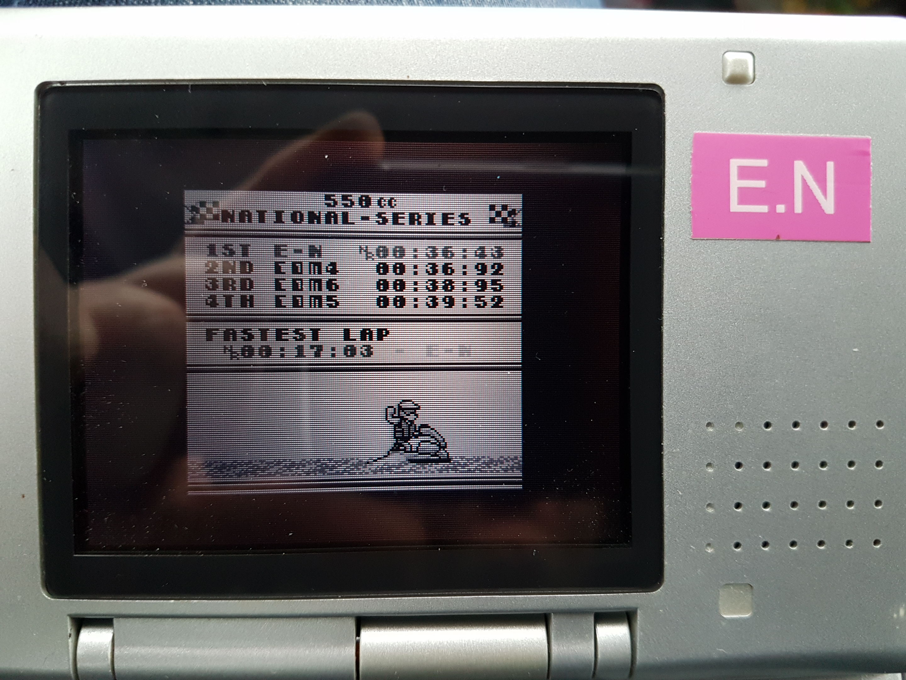 EddieNiceguy: Wave Race: Circuit 1: Bahamas [550cc][Total Time] (Game Boy Emulated) 0:00:36.43 points on 2019-01-07 06:22:25