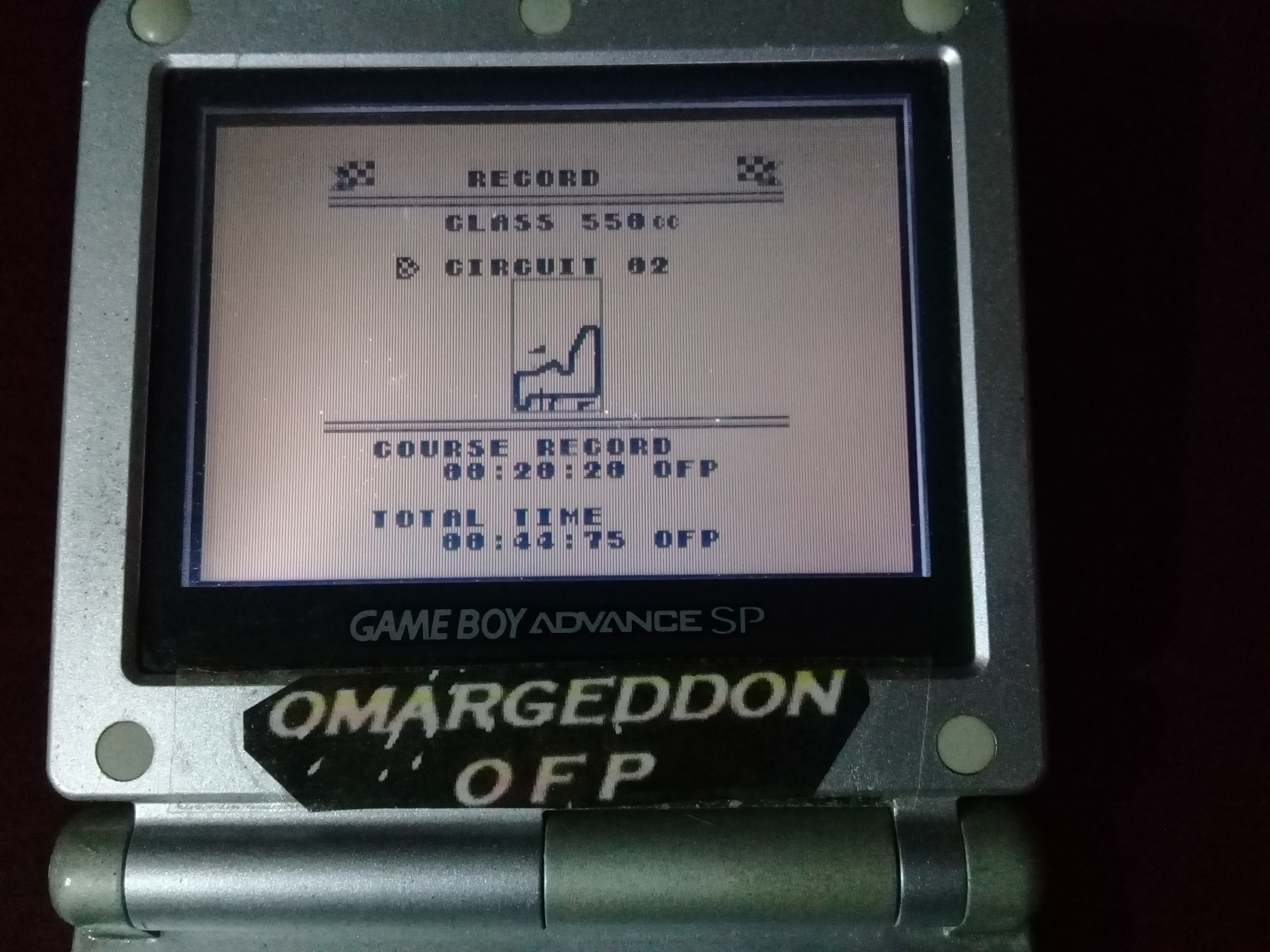 omargeddon: Wave Race: Circuit 2: Hawaii [550cc][Total Time] (Game Boy) 0:00:44.75 points on 2019-04-16 14:36:53