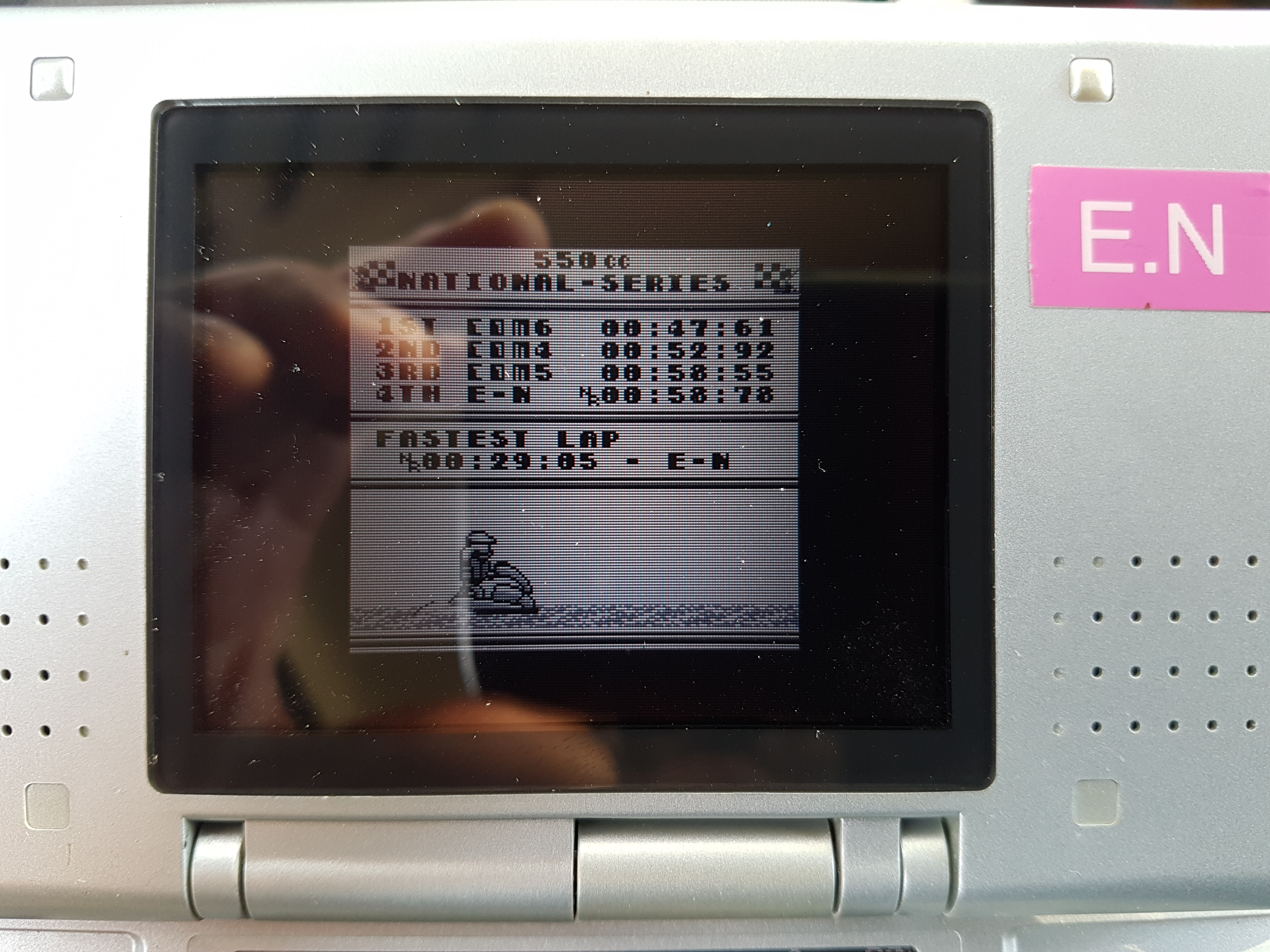 EddieNiceguy: Wave Race: Circuit 4: Rio [550cc][Course Record] (Game Boy Emulated) 0:00:29.05 points on 2019-01-09 05:36:10