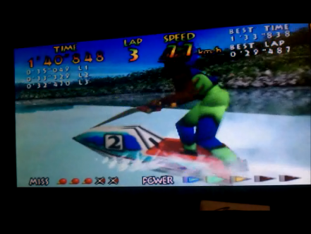 S.BAZ: Wave Race: Drake Lake [Time Trial] [Normal] (N64) 0:01:40.848 points on 2016-05-04 11:37:10