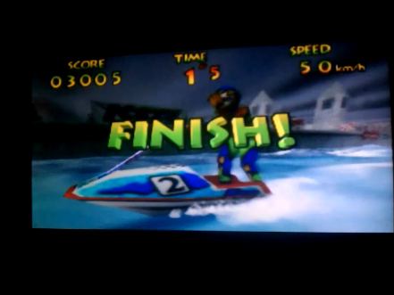 S.BAZ: Wave Race: Marine Fortress [Stunt Mode] (N64) 3,005 points on 2016-04-15 14:21:36