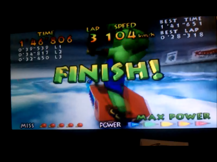 S.BAZ: Wave Race: Marine Fortress [Time Trial] [Hard] (N64) 0:01:46.806 points on 2016-05-05 20:22:15